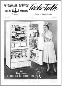 Photo of a 1960s fridge
