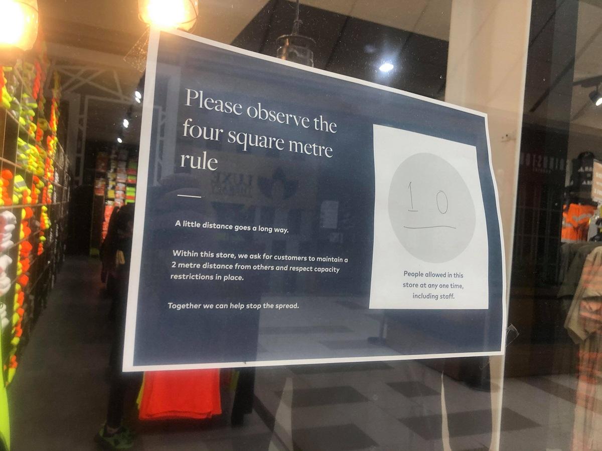 4 square metre rule social distancing