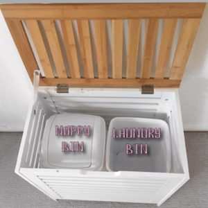 Hiding clutter in babies nursery