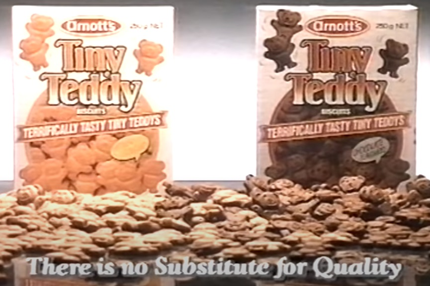 Arnotts Tiny Teddy Biscuits 90s Australian Commercial