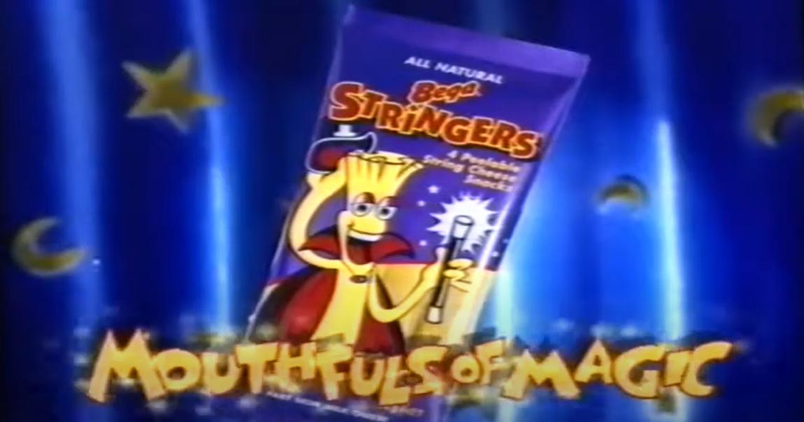 Bega Cheese Stringers vintage australian 1990s school snack