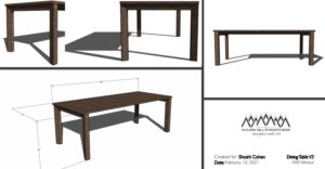 Dining Table Rendering