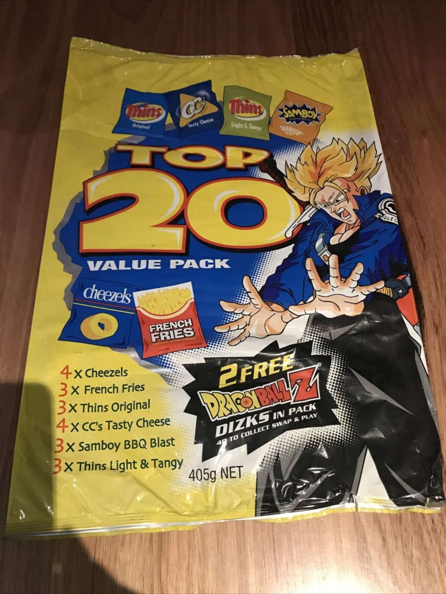Dragon Ball Z Dizk series 3 DBZ Tazo Top 20 Value Pack Variety Multi Packet