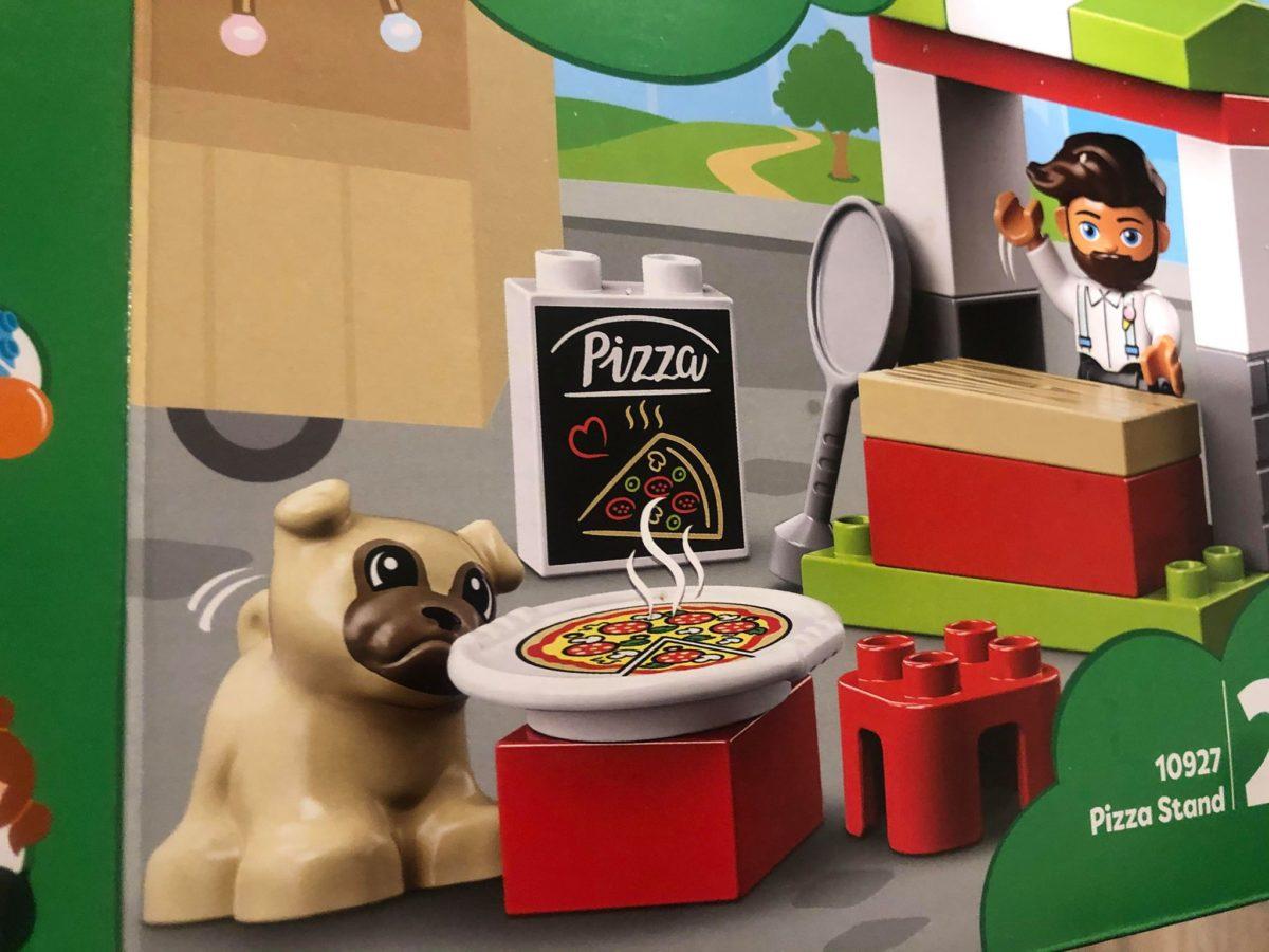 Duplo Pizza Stand Beard Man Pug Dog Set 10927