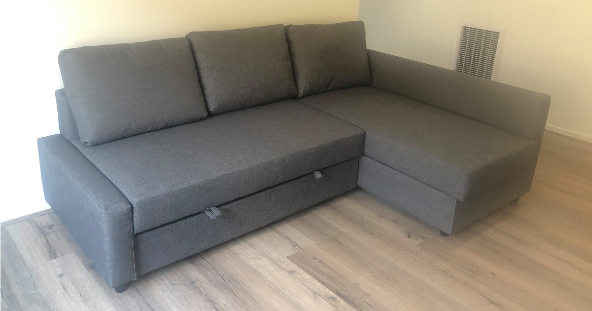 Ikea Friheten L Shaped Corner Sofa Bed With Storage Review A Nice Home