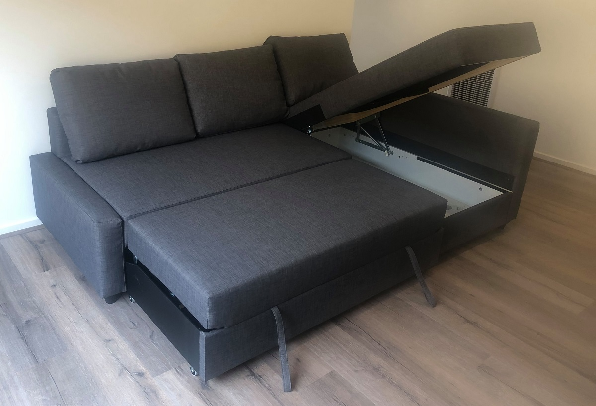 Ikea Friheten corner sofa-bed folded out