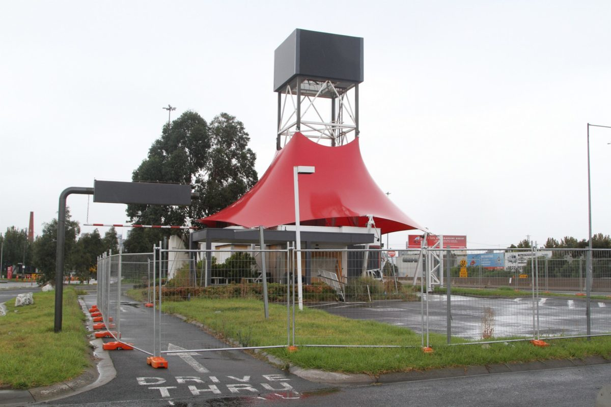 KFC at the eastbound West Gate Bridge service centre after closing