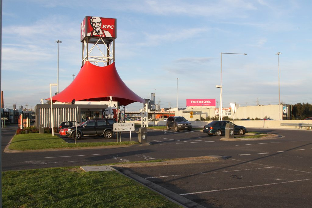 KFC at the eastbound West Gate Bridge service centre by Marcus Wong