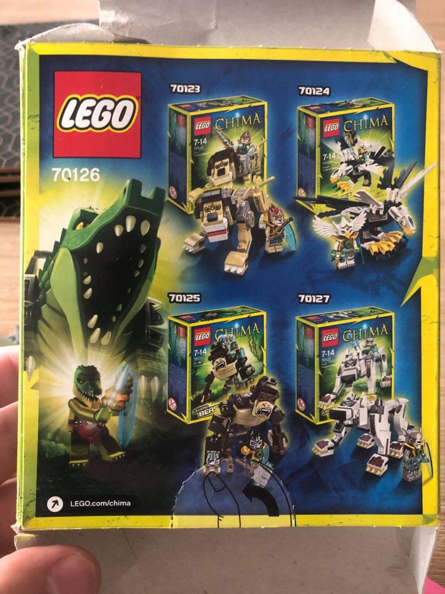 LEGO Chima Crocodile Legend Beast 70126 back