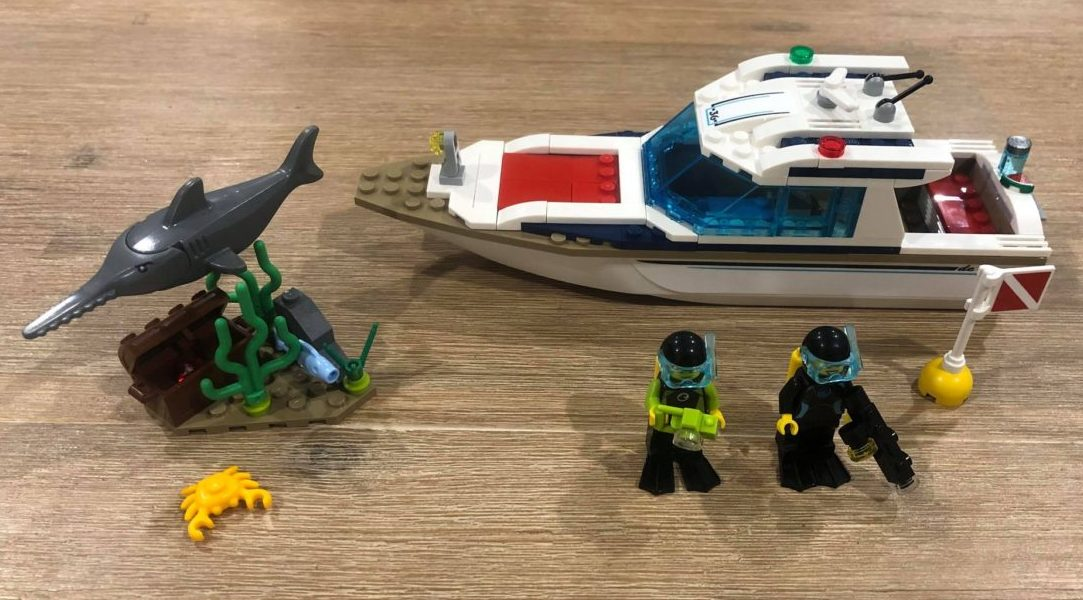 Lego city 60221 built boat swordfish