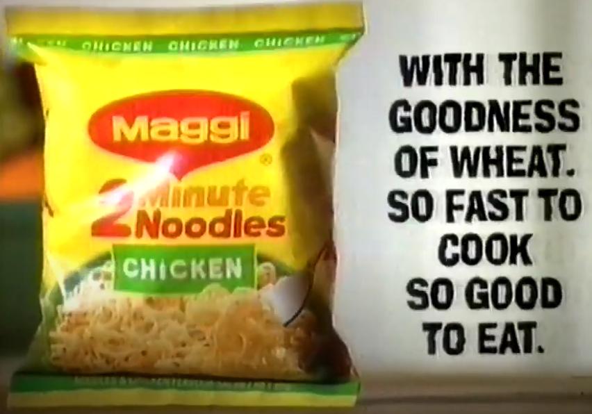 Maggi 2 Minute Noodles Giggle Wiggle Australian TV Ad 1996
