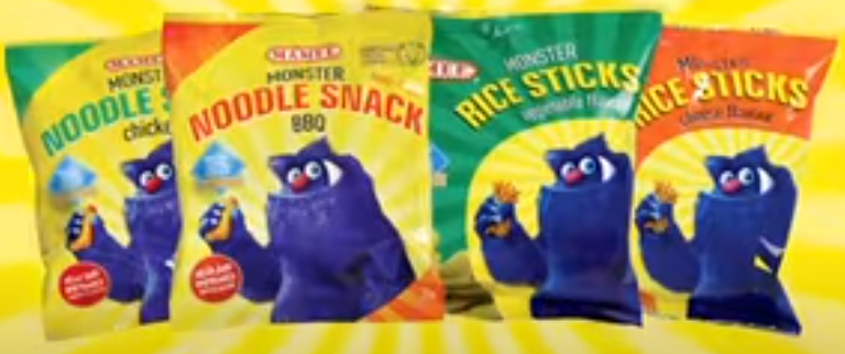 Mamee Monster Noodle Snacks and Mamee Monster Rice Sticks