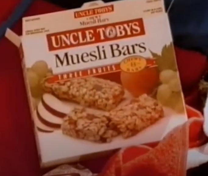 Uncle Tobys Muesli Bars 1997 Australian kids snacks