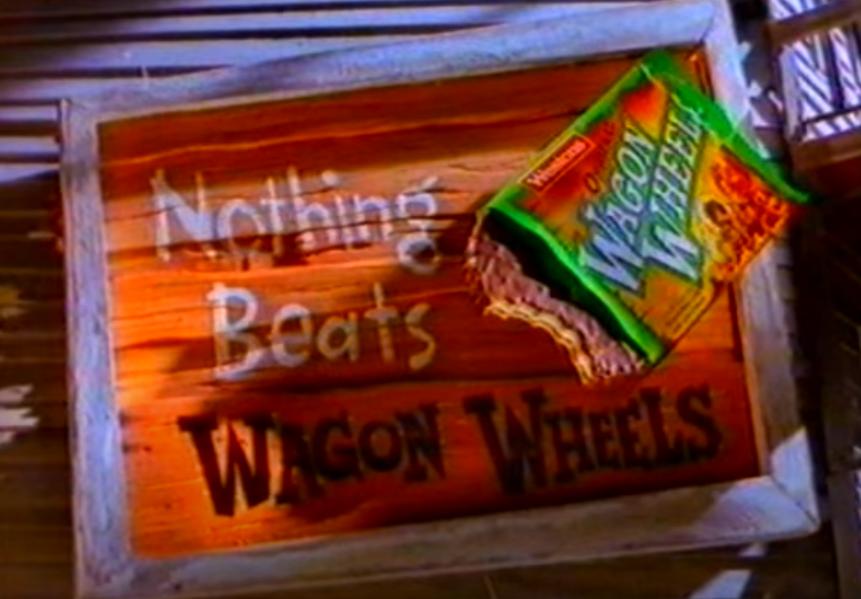 Wagon Wheels ad Australian TV 1990s kids school snack