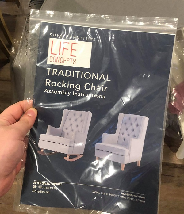 aldi rocking chair sohl furniture life concepts instructions