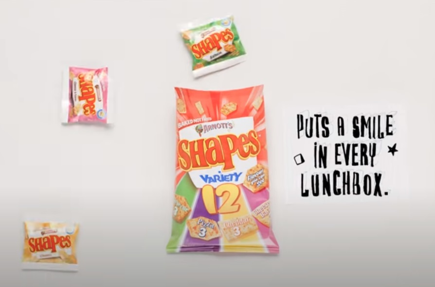 arnotts shapes multipack commercial