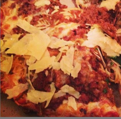 bsketti spaghetti pizza