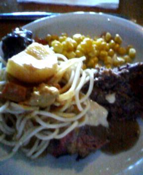 corn and roast beef