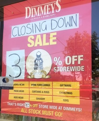 closing down 30% off