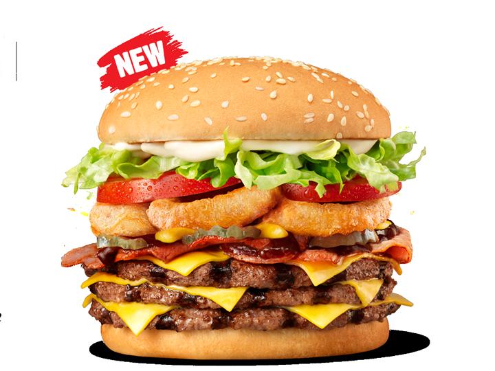 hungry jacks smokehouse whopper triple