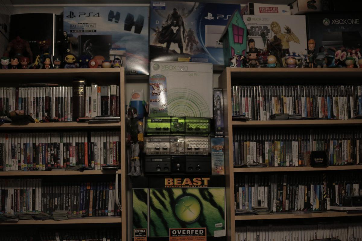 man cave bedroom video games