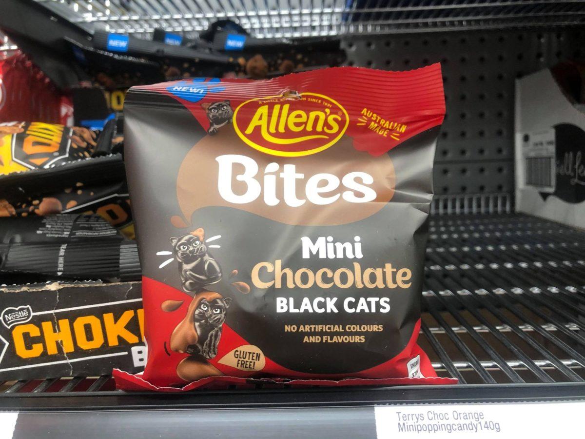 new allens bites mini chocolate black cats