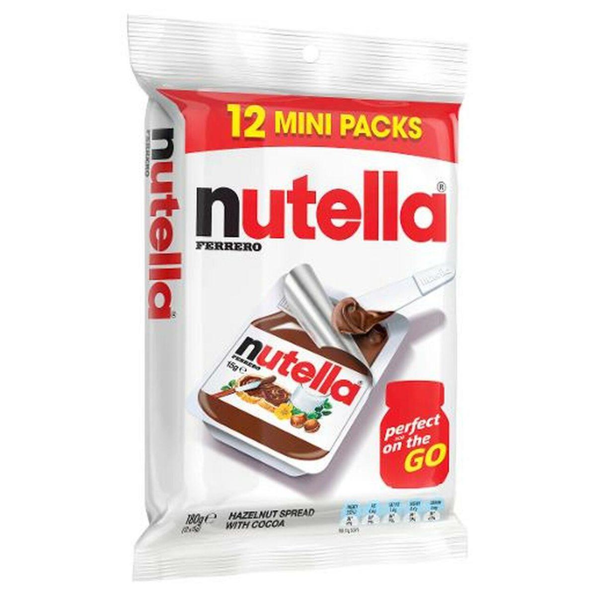 nutella mini packs spread