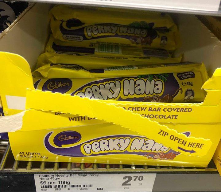 cadbury novelty perky nana
