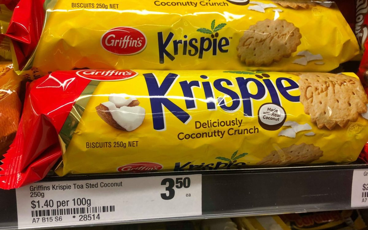 griffins krispie deliciously coconutty crunch