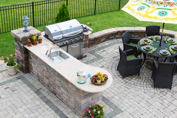 patio example with bbq