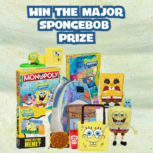 pizza hut australia spongebob major prize competition