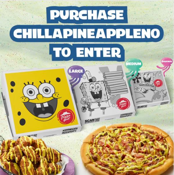 pizza hut box spongebob Chillapineappleno