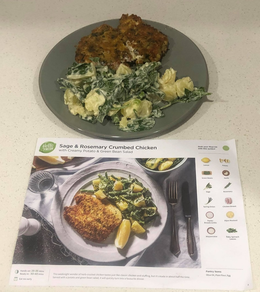 sage & rosemary crumbed chicken hello fresh