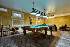 garage conversion pool room