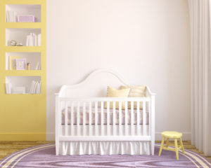 Crib skirt-nursery storage