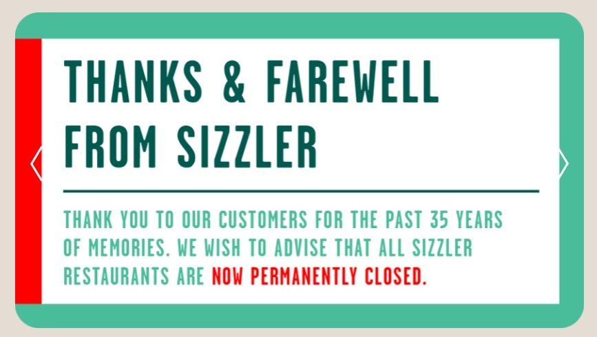 sizzler australia thanks and farewell