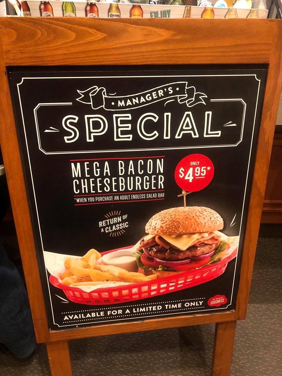 sizzler mega bacon cheeseburger