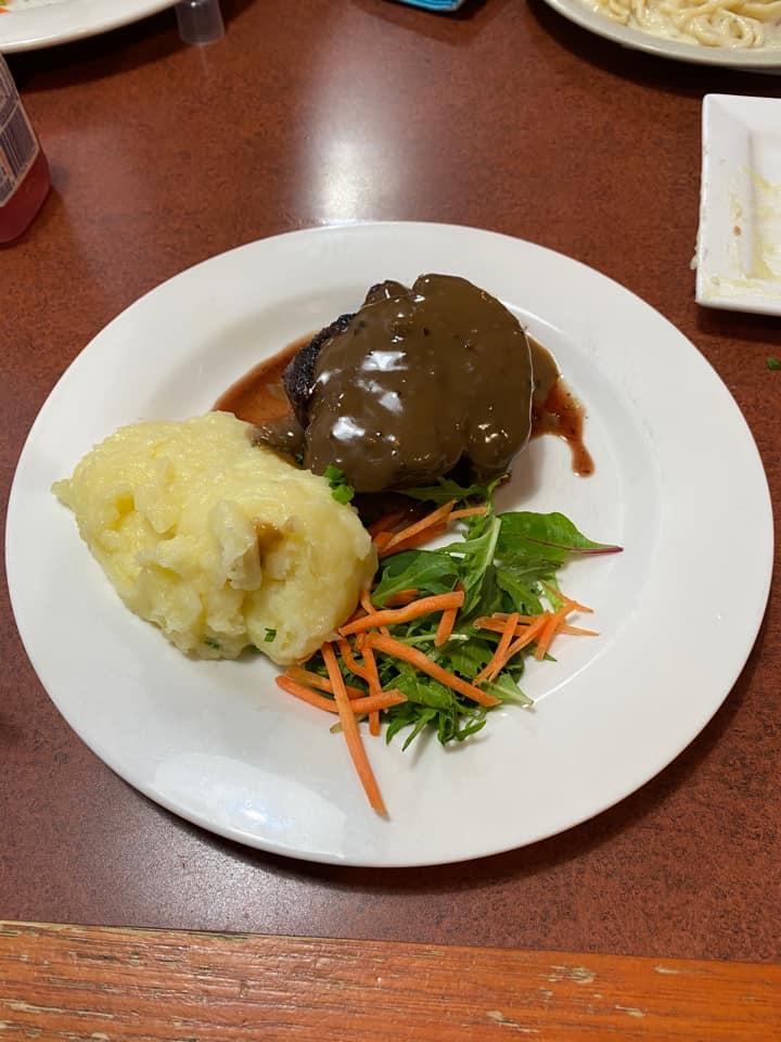 steak dinner at sizzler