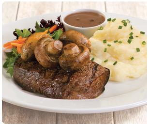 steak garlic mushrooms