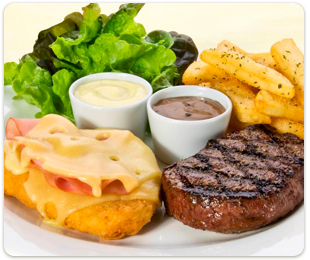 steak malibu combo