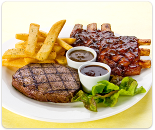 steak ribs combo