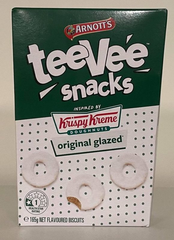 teeVee snacks krispy kreme original glazed