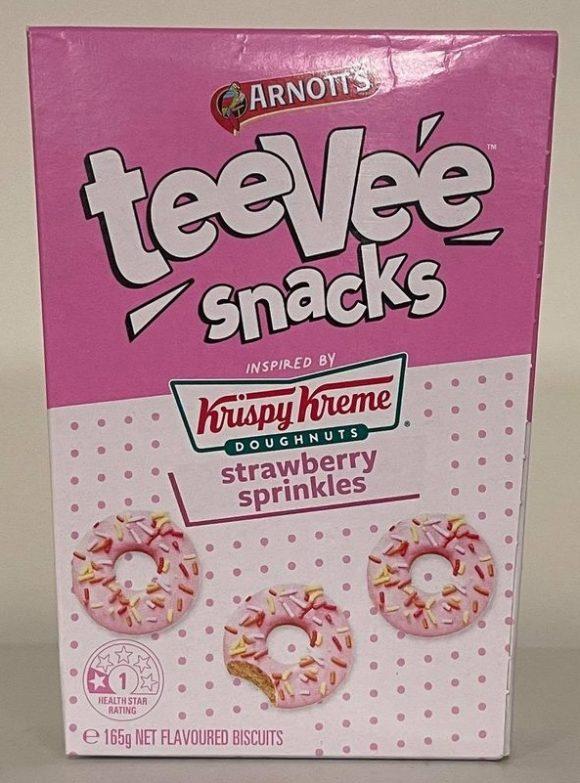 teevee snacks krispy kreme strawberry sprinkles 2021